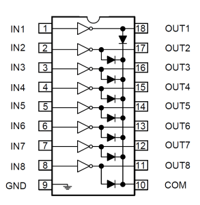 Schéma-interne-ULN2804